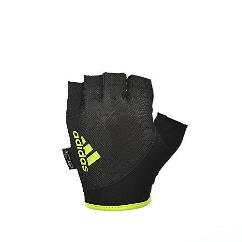 Adidas fitness guanti bianco - nero/giallo, x-large