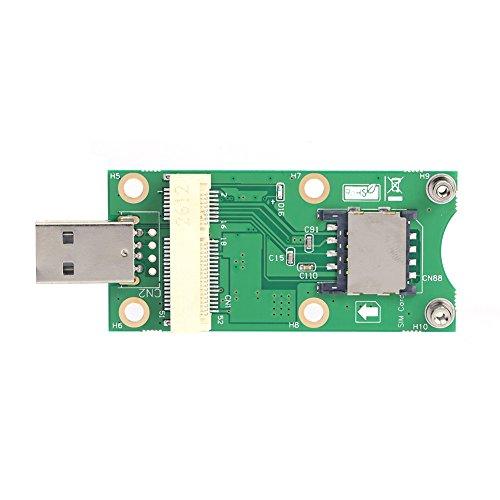 Demiawaking Mini Wireless PCI-E zu USB Adapter mit SIM 8 Pin Card Slot für WWAN / LTE Modul -