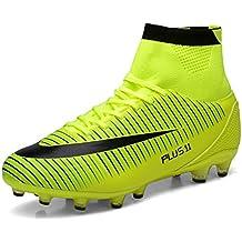 ZIITOP Zapatos de Fútbol Niños Spike Aire Libre Profesionales Atletismo Training Botas de Fútbol Adolescentes Zapatos