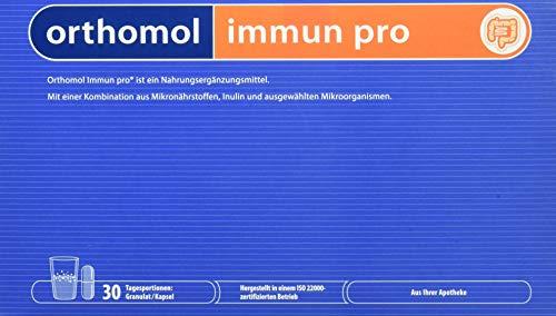 Orthomol Immun pro 30er Granulat & Kapsel als Nahrungsergänzungsmittel - Vitamine & Mikronährstoffe für das Immunsystem