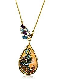 Miranika Gold Plated Pendant for Women (Multi-Colour)(C1D5DSA3)
