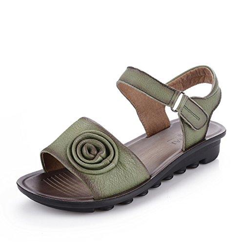 Chaussures de maman/Chaussures plates d'âge mûr sandal/ la vieille semelle douce pour dames A