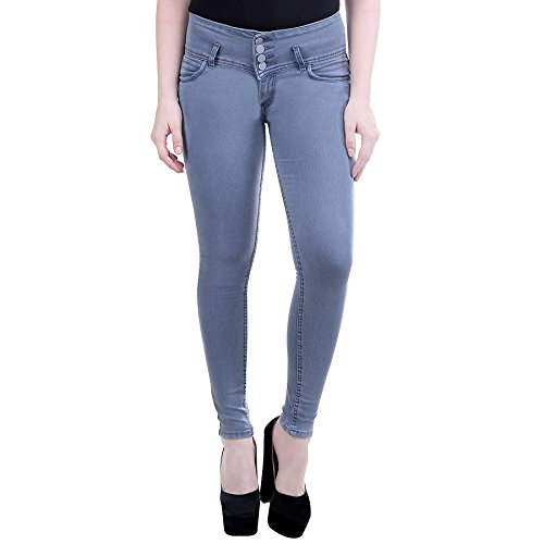 FNocks Casual Ankle Length Slim Fit Women Jeans (ICE BLUE & GREY) 28 30 32 34 36 (grey, 26)  available at amazon for Rs.679
