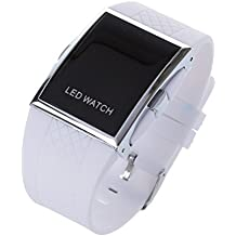 ff131be91164 SODIAL(R) LED Reloj Lujo Moda Hombre Mujer Relo de pulsera correa deportivo  digital