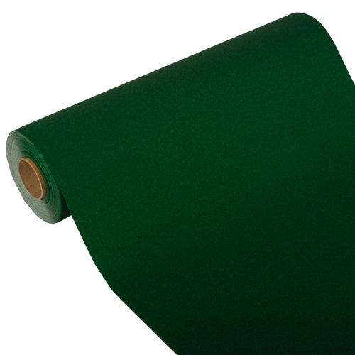 """24 m x 40 cm Tischläufer, Tissue """"ROYAL Collection"""" dunkelgrün grün Tischband"""