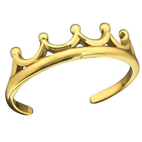 So Chic Joyas - Anillo dedo pie ajustable corona Plata