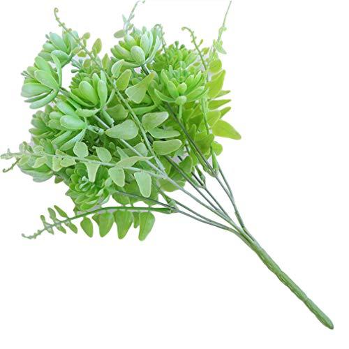 Lnlyin simulation von saftigen topfpflanzen kreative heimat wohnzimmer gefälschte blumen zierpflanzen,weiß Grün