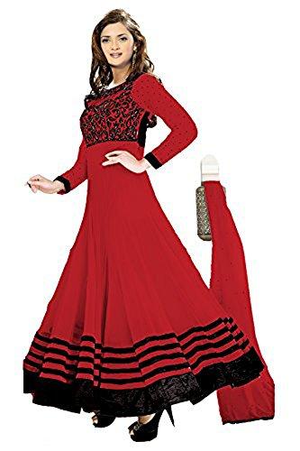 Clickedia Women Faux Georgette Dress Material (hari-10)