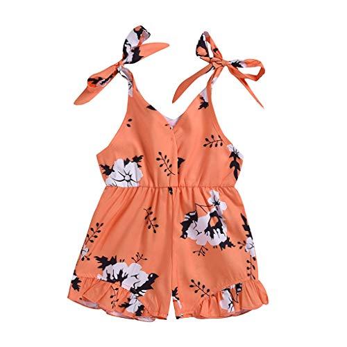 Day.LIN Baby Mädchen Halfter Einteiler Sommer Kleinkind Overall Outfit Lace rückenfreie Kleidung 1-6 Jahre -