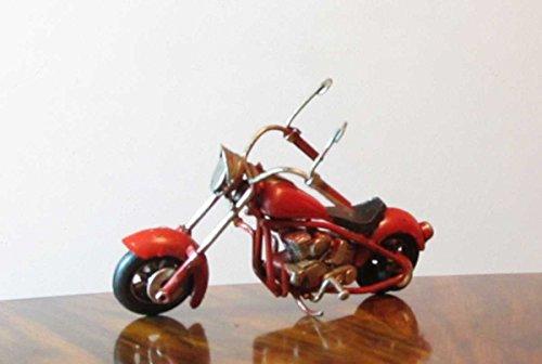 Nostalgie Blech Motorrad langer Lenker Rot kleines Modell Deko