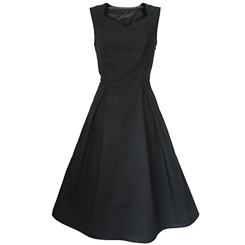 look for the stars Damen A-Linie Kleid schwarz schwarz 44 Gr. 32, schwarz (1950 Evening Star)