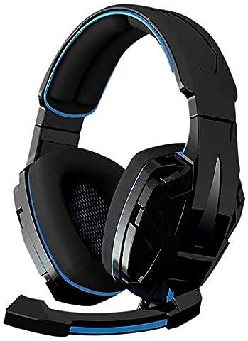 BG BM-AUD05 Oreillette pour X3 Xonar PC/PS3/XBOX 360 Bluetooth Noir/Bleu