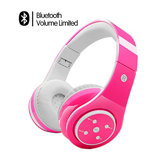 votones-wireless-headphones-for-kids-adults-volume-limited-headphones-over-ear-rechargeable-foldable