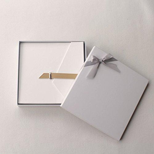 FOOHAO- Albums photo avec des pages collantes, cadeaux créatifs Couple romantique, 20 Pages (40 Surface) (Couleur : White-Black card)