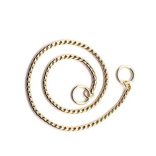 GoGou Entwerfer Gold Schlange Kette weiche Ausbildung gehende Hundvielzahl Größe Halsketten Drossel/Kragen für Hunde (5.0mm*65cm)