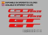 PEGATINAS GT BIKES F121 VINILO ADESIVI DECAL AUFKLEBER КЛЕЙ MTB STICKERS BIKE (ROJO)