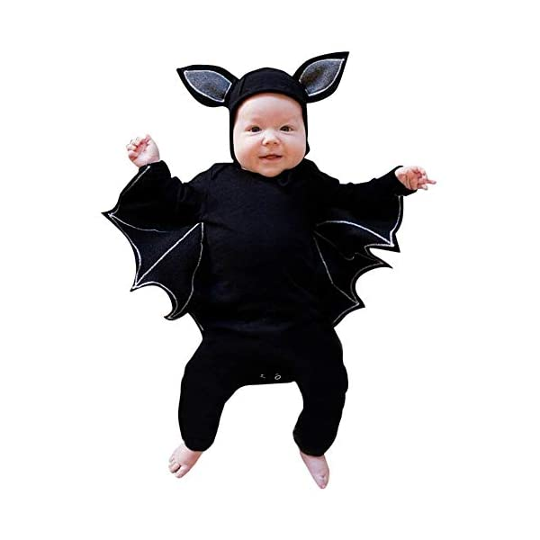 HAOHEYOU Halloween Cosplay Costume Romper Hat Outfits Set For Toddler Newborn Baby Boys Girls Outfit Bodysuit 3