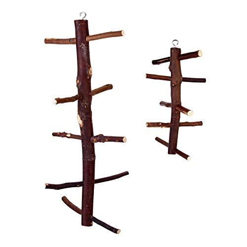 TuToy Holz Treppe Swing Pet Barsch Spielen Spielzeug Rotierende Hängen Für Vogel Papagei Ara - L -