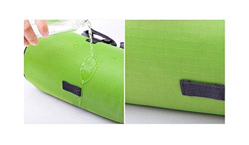 super-bab Fahrrad Tasche wasserdicht Touch Screen Radfahren Front Korb mit abnehmbarer Schultergurt Grün