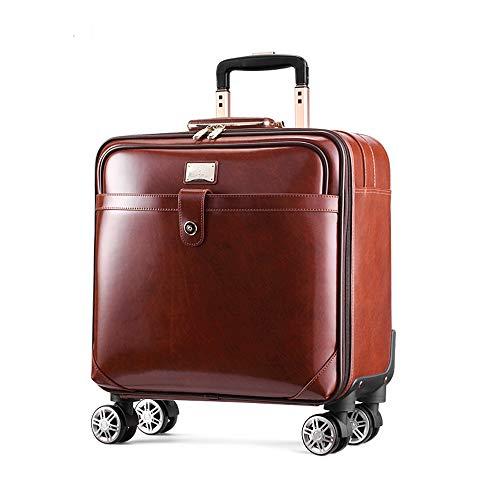 TADYL Leder Universal Rad Gepäck Rotator Markenkoffer Wasserdicht Atmungsaktiv Geschäftsreisen,Brown,16inchsquare - - Brown-leder-gepäck