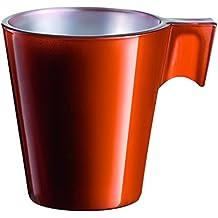 Luminancia 8010148 llamativo juego de tazas de café de 5 x 8 naranja 6 x 6 cm