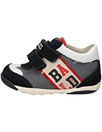 BALDUCCI Sneakers Bambino Blu Bianco Tessuto Pelle AG930 (17 EU) Recomendar v3s002MK
