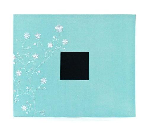 American Crafts 12x 12Zoll Gemustert 3Ring Album Mit Bestickten Blumen, Robins Egg -