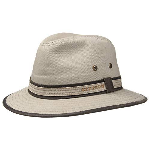 Stetson AVA Cotton UV-Schutz Stoffhut | Sonnenhut Herren/Damen | Hut aus Baumwolle | Traveller Frühjahr/Sommer | Sommerhut beige L (58-59 cm)