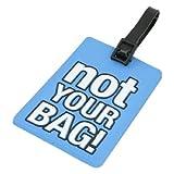 Tag bagagli - TOOGOO(R) Etichetta Blu plastica morbida non il vostro modello di borsa da viaggio Etichetta bagaglio