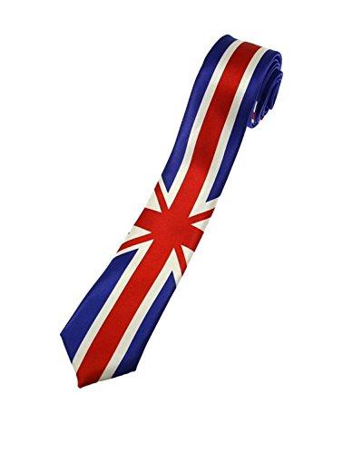 Zac's Alter Ego® Unisex Krawatte, Design: Union Jack, zum selbstbinden