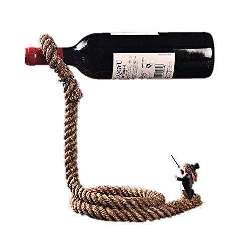 Weinregal Kreative Kaninchen Magier Einfache Europäische Seil Wein Flaschenhalter Becherhalter Handwerk Heimtextilien Weinregal