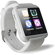 SMART Watch Fitness, Penvi Bluetooth Smart Watch Android et iOS système Smartphone blanc