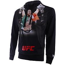 Boxeur des rues Fight Activewear Serie, Sudadera con impresión de Conor Mcgregor Hombre, Hombre, BX-4947H, Negro, Medium