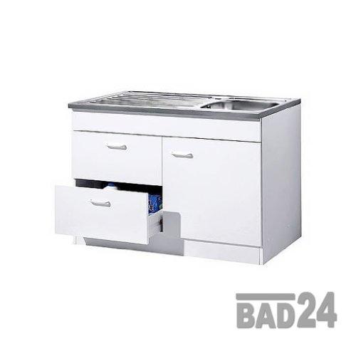 Küche-Spülenschrank/ Mehrzweckschrank 100x60 Auszüge Start Melamin weiß/weiß