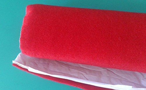 Moqueta adhesivo Acústica roja rollo tamaño 70x