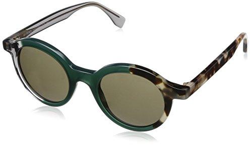 Fendi occhiali da sole ff 0066/s qt rotondi, donna, myn
