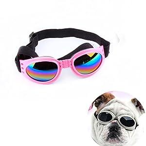 S-man coupe-vent brillant Chien Lunettes de soleil Eye Porter protection UV Lunettes de natation avec objectif Clorful pour grand chien