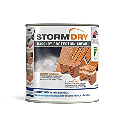 Stormdry Masonry Protection Cream - The Only BBA & EST Certified Brick Waterproofer - Proven 25 Year Protection Against Penetrating Damp (1 Litre)