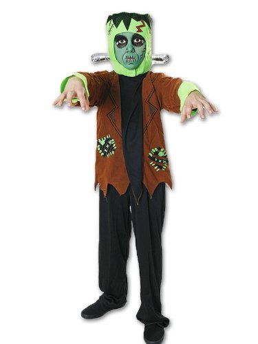 Frankenstein-Kostüm - Kinder/Jungen - Halloween-Kostüm - Größe L - 10-12 (Frankenstein Kostüme)