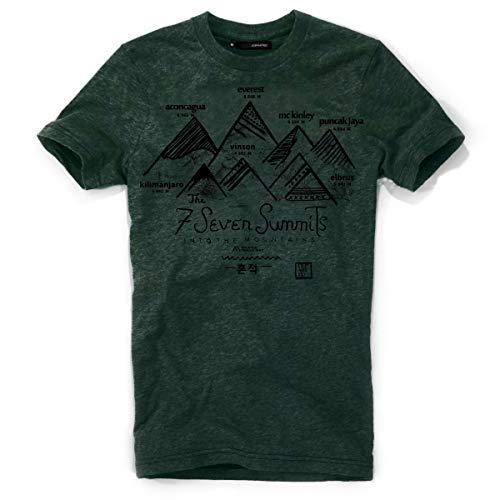 DEPARTED Herren T-Shirt mit Print/Motiv 3944-290 - New fit Größe XL, Cedar Forest Green Melange -