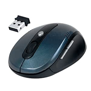 Daffodil WMS330 - Souris Optique Sans Fil / Wireless Mouse – Souris d'Ordinateur avec 4 Boutons + Molette / DPI (PPP) Réglable (Max : 1600) - Pour Laptop / Notebook / Desktop – Compatible avec Microsoft Windows (8 / 7 / XP / Vista) et Apple Mac (OS X +) - Alimentée par 2 Piles AAA (incluses)