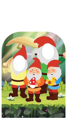 """étoile découpes l'esprit du Jardin Gnomes Enfant Visage Carte Planche à découpe, Carton, Multicolore, 131x 95x 131cm,""""__ A CREER"""","""