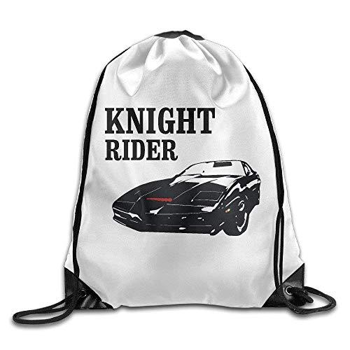 Knight Rider KITT White Drawstring Bag