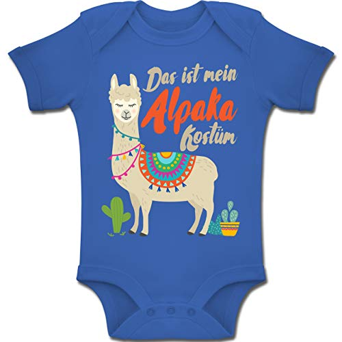 Shirtracer Karneval und Fasching Baby - Das ist Mein Alpaka Kostüm - 12-18 Monate - Royalblau - BZ10 - Baby Body Kurzarm Jungen - Baby Kaktus Kostüm