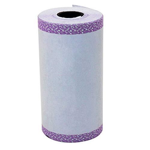 Kuizhiren1 Selbstklebender Aufkleber Thermodruck,Selbstklebendes wärmeempfindliches Thermo-Stickerpapier für Fotodrucker Purple Fringe Zebra Fringe