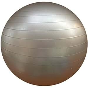 B FIT (USA) Anti Burst Gym Ball with Pump, 75 cm (Silver)