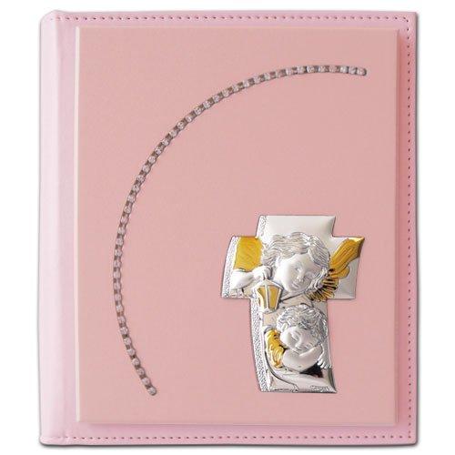Strass-album (Album Portafoto strass bambina 20x25 con placca a forma di croce angeli TANGARI MADE IN ITALY)