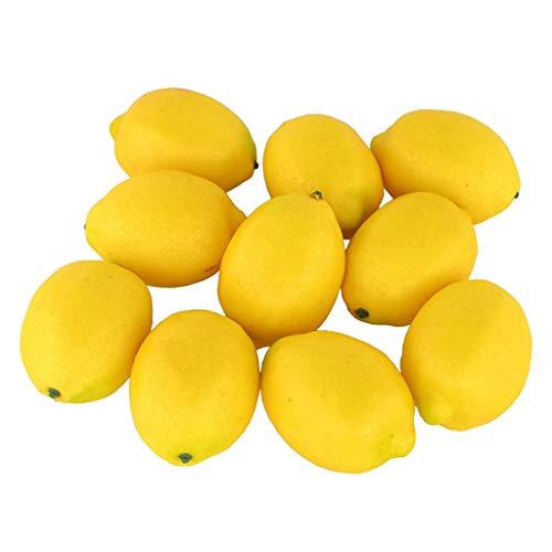 efälschte Zitrone Obst Party Dekoration Lilien Pflanzen Hochzeit Blumensträuße Startseite DIY Dekor 10 stück (Gelb) ()
