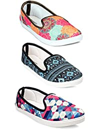 Meriggiare Women Casual Shoes Multicolor Combo Pack of 3 for Daily and Casaul wear for Women -020