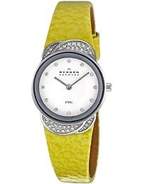 Skagen Damen-Armbanduhr XS Analog Quarz Leder 818SSLY